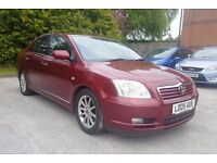 TOYOTA AVENSIS AUTOMATIC NEW LPG GAS FITTED BLACK SEATS LEATHER