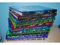Guinness Book Of World Records. 9 Books. From 2003 to 2012. Seldom Used. Good Condition.