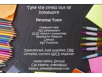 Tutor and Homework Helper: Fully qualified, experienced personal tutor KS2-KS4.