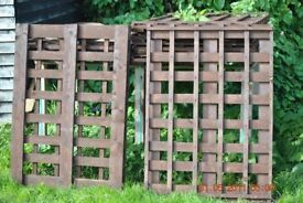 NEW trellis fence panels 115cm x 84cm 8 available double sided in dark oak £8 each
