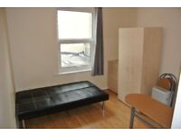 First floor compact studio above shop just 1 minute walk to Dollis Hill Station. Inc elec and water