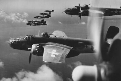 B25 Mitchell Bombers US 12th Air Force Italy 4x6  WW2