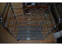 Chrome wine rack trolley unused excellent condition