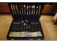 Suissine gold plated cutlery set BRAND NEW IN LEATHER CASE
