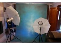 Studio Lights Stands and Background