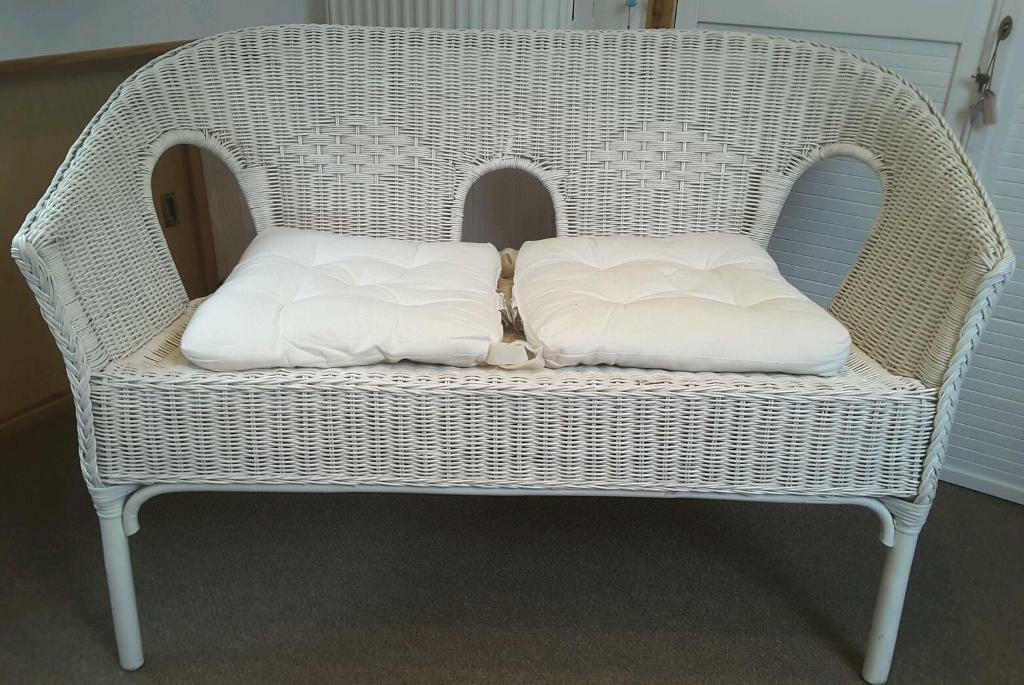 Wicker Two Seater Sofa In Wymondham Norfolk Gumtree