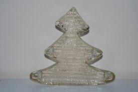 7.5 inch GLASS CHRISTMAS TREE