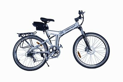 X-Cursion E-Bike Electric Bicycle Mountain X-treme Fold Folding Silver 7 Speed