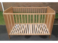 Ikea Light Oak Effect Cot - Fab Condition!