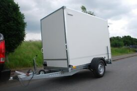NEW BOX TRAILER WITH RAMP 8FT x 4FT x 6FT SINGLE AXLE 1300KG CAR CAMPING TRAILER