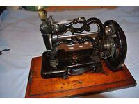 """Antique 1869 James G Weir """"Globe"""" Sewing Machine."""