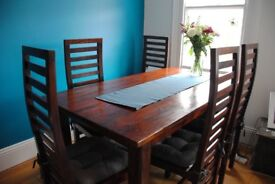 Dining table, solid wood £440.