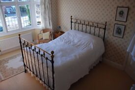 Brass and Cast Antique bed {Circa 1900}