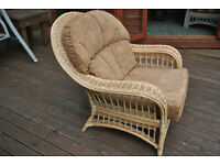 DARO wicker and cane armchair