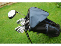 Texan Classices Golf Clubs and Trifix Stand Bag