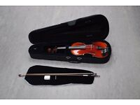 Forsyth's Model 25 Violin Outfit with Everest Shoulder Rest, Case, and Bow £250