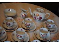 Victoria Rose Vintage China 41 Piece Set 1930's Czechoslovakia excellent cond.