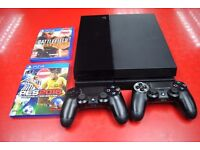 Sony Playstation 4 500GB bundle with 2 pads and 2 games £250