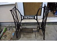 SINGER Sewing Machine Treadle Base Cast Iron Stand