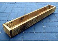 Rustic Reclaimed Hand-Made Barnwood GARDEN EDGE PLANTER BOX
