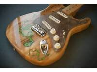 Fender Squire custom Lichtenberg Fractal Figures body