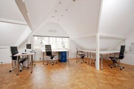 Air-conditioned desk space in Thames Ditton design studio