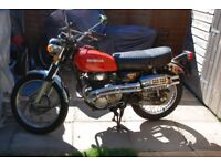 1973 Honda CL350 K4 to ride or restore. Lovely patina. Tax and MOT exempt.