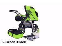Junior pram pushchair stroller buggy 2 in1 from Baby-Merc