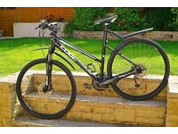 CUBE LTD CLS 27 speed Mountain Bike - Ladies frame with suspension, disc brakes + extras. Like new