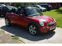 2005 Red mini cooper convertible 1.6 great car for the summer!
