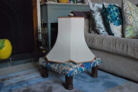 Large ivory/light cream lampshade for standard lamp - fully lined quality item