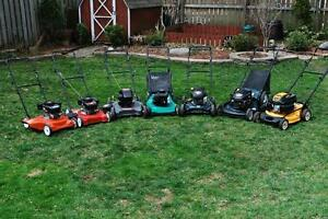 Lawnmowers and weedeaters