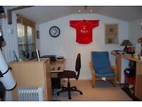 Spacious converted outbuilding available to hire as workspace during the day