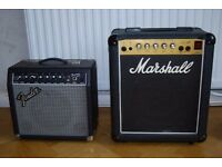 Marshall Lead 12 and Fender 15R Frontman guitar amps