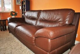 Brown leather sofa, 3 seater, fabulous condition as well looked after. very very comfortable.