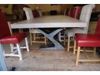 Windermere Oak Extending Monastery Dining Table 350cm by 120cm