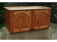 Solid Pine (Double-Door) Wall Cupboard - *Free Local Delivery