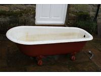 Antique cast iron free standing bath