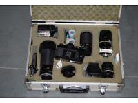 Minolta cameras and lenses