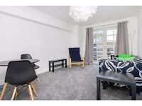 Bright, recently redecorated 2 bedroom flat with parking and balcony access available NOW – NO FEES