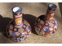 Antique Japanese Imari Vases - 1870s Period