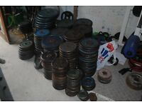 """Standard 1"""" Weight Plates - £1/KG - 10KG - 1.25KG - WEIGHTS GYM"""