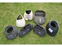 Assorted selection of full size horse overreach boots and large equi boot