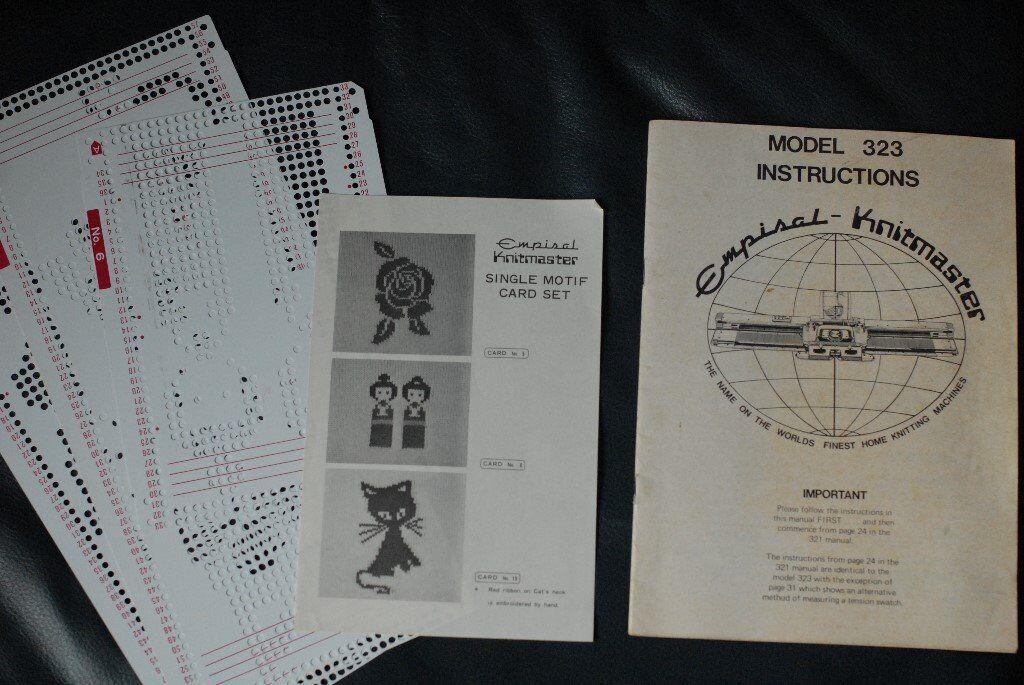 Manual empisal knitmaster 323 knitting machine.