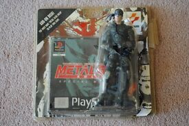 RARE Metal Gear Solid Special Missions with Solid Snake figure for PSX PS1 also known as VR missions