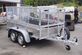 8x4 car trailer with mesh sides