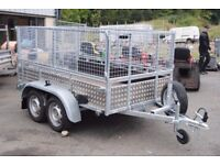 8x4 car trailer with mesh sides FULLY LEGAL with CERTIFICATE of CONFORMITY