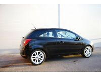 "REDUCED! Vauxhall Corsa 1.4 SXI black A/C white 17""alloys great condition in and out!"