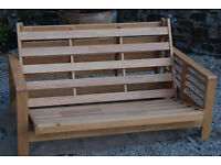 Pine Futon/Sofa Bed with Brand New Mattress - Free Delivery