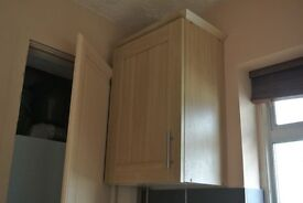 Complete Kitchen-4 Wall Units, 5.5 Base Units, 1 Three Drawer Unit, Solid Wood worktops
